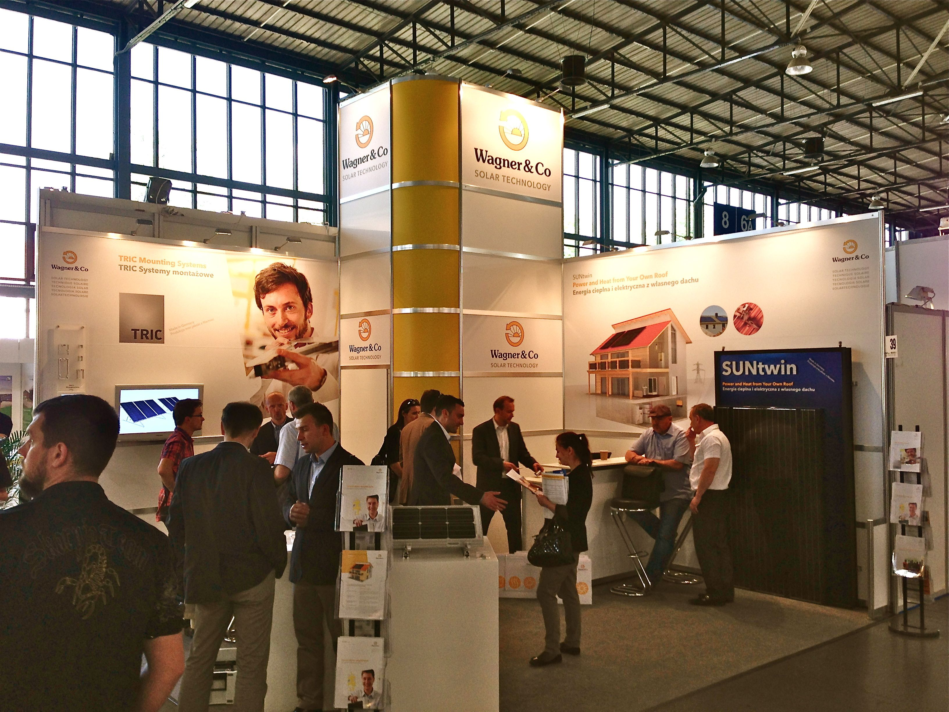 The Wagner & Co and partners booth at the Poznan Greenpower